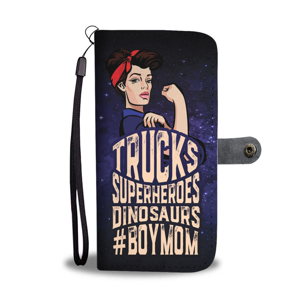 #BoyMom Wallet Phone Case for Moms of boys
