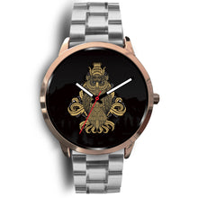 Load image into Gallery viewer, Rose Gold and Black Owl Watch
