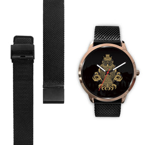 Rose Gold and Black Owl Watch