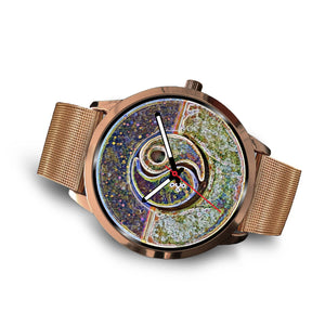 Yin Yang Night and Day Rose Gold Watch
