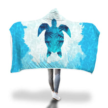 Load image into Gallery viewer, Sea Turtle Hooded Blanket