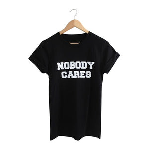 Nobody Cares  black crop top