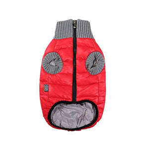 Polar jacket Red Gray_1