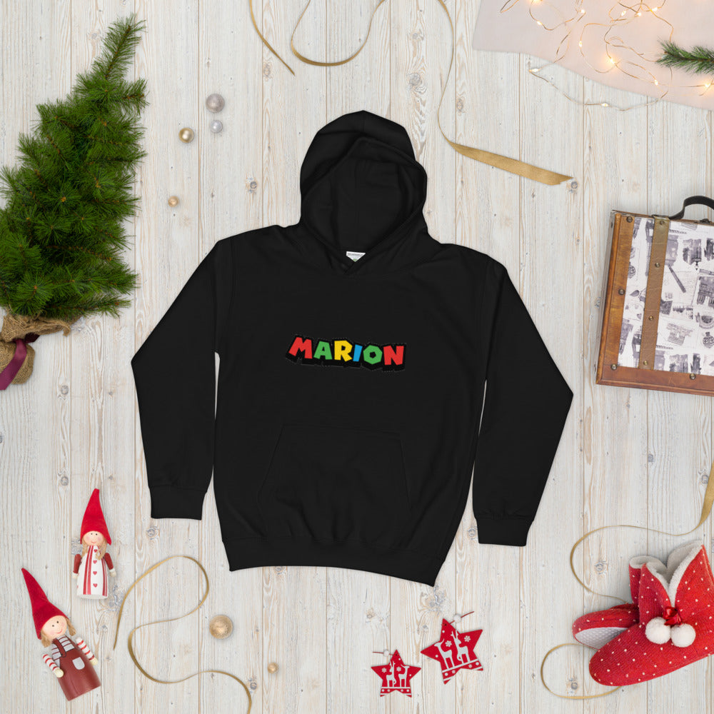 Personalized First Name Youth Free Shipping Kids Hoodie Primary Colors