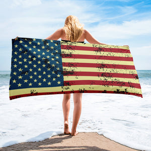 Distressed Flag Towel