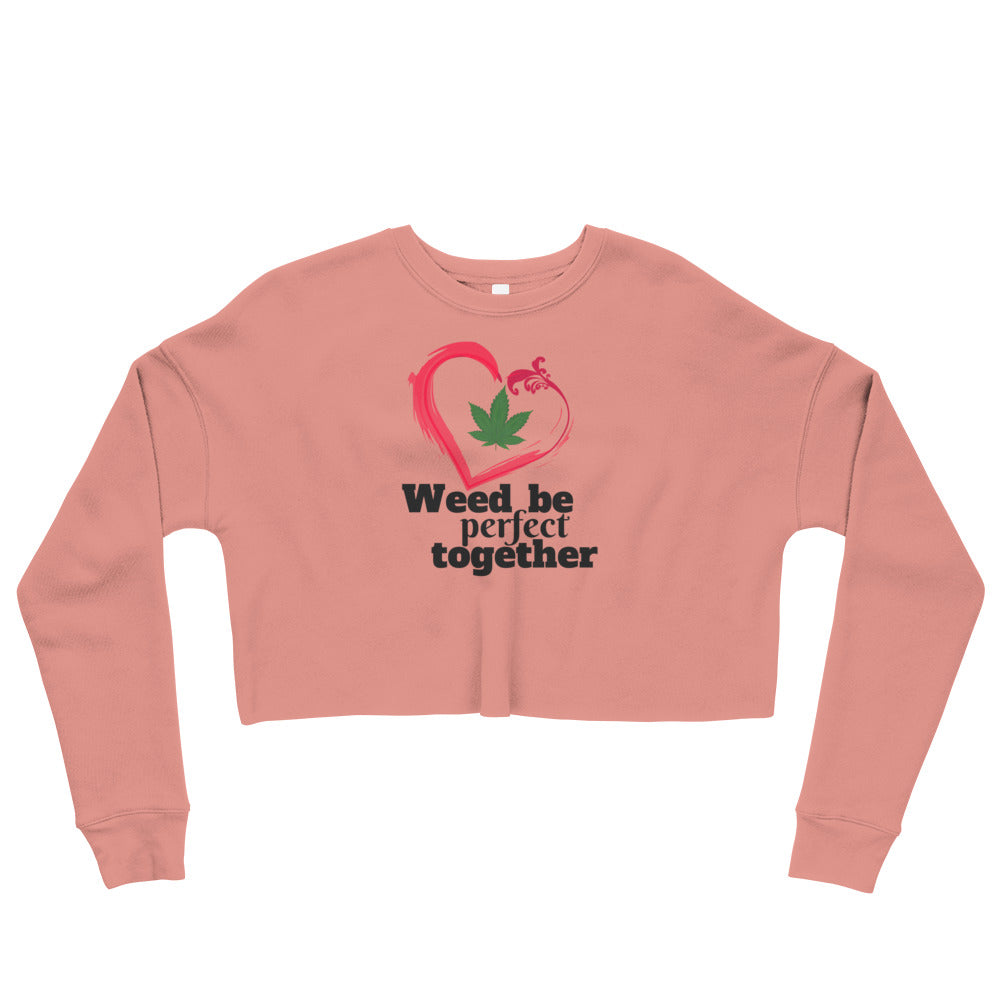 Cannabis Pink Crop Sweatshirt