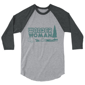Wander Woman 3/4 sleeve raglan shirt