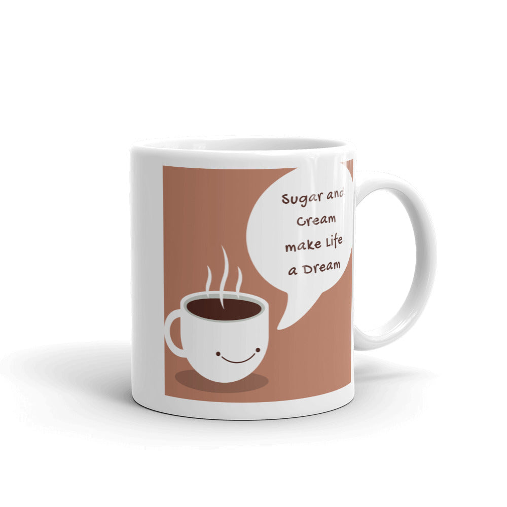 Sugar and Cream Coffee Mug - Mauve