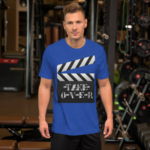 Clapper Board Take Over Short-Sleeve Unisex T-Shirt