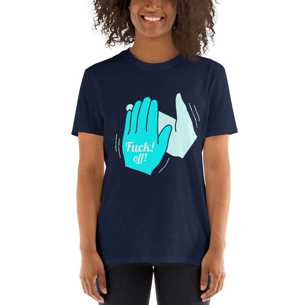 F- Off Clap Tee Short-Sleeve Unisex T-Shirt