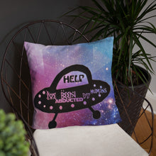 Load image into Gallery viewer, UFO - abducted by humans pillow