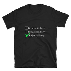 Short-Sleeve Pajama Party Election Time Unisex T-Shirt