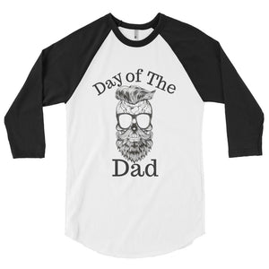 Day of the Dad - Sugar Daddy Skull 3/4 sleeve raglan shirt