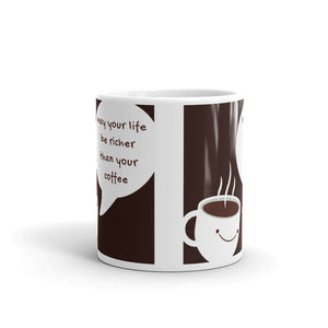 Rich Life Coffee Mug - Black and White