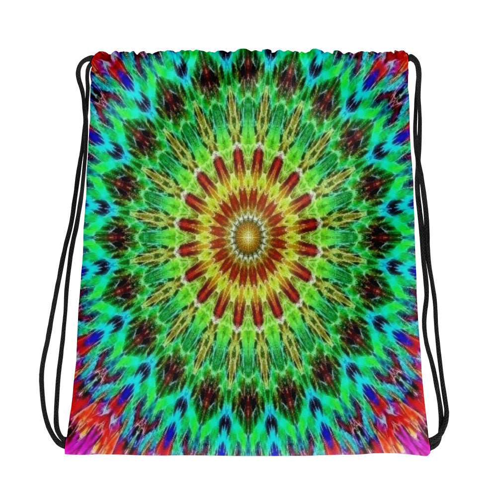 Mandala Sunrise Drawstring bag