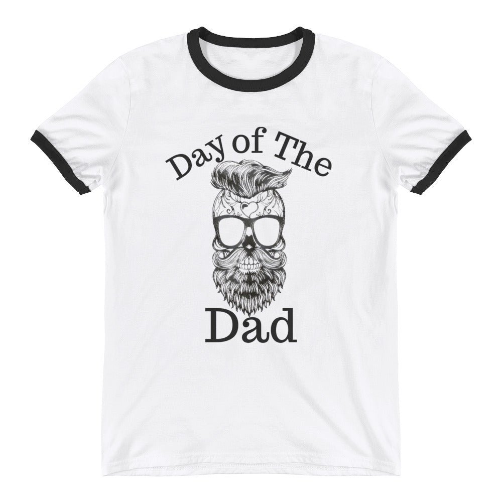 Dad Sugar Skull Ringer T-Shirt