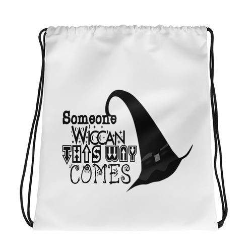 Someone Wiccan Drawstring bag