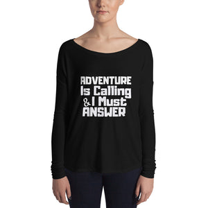 Adventure is calling Ladies' Long Sleeve Tee