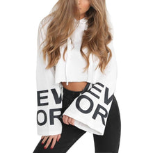 Load image into Gallery viewer, New York Cropped Hoodie with Kimono style bell sleeves
