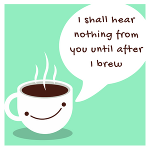 Silent Morning Coffee Mug- cyan