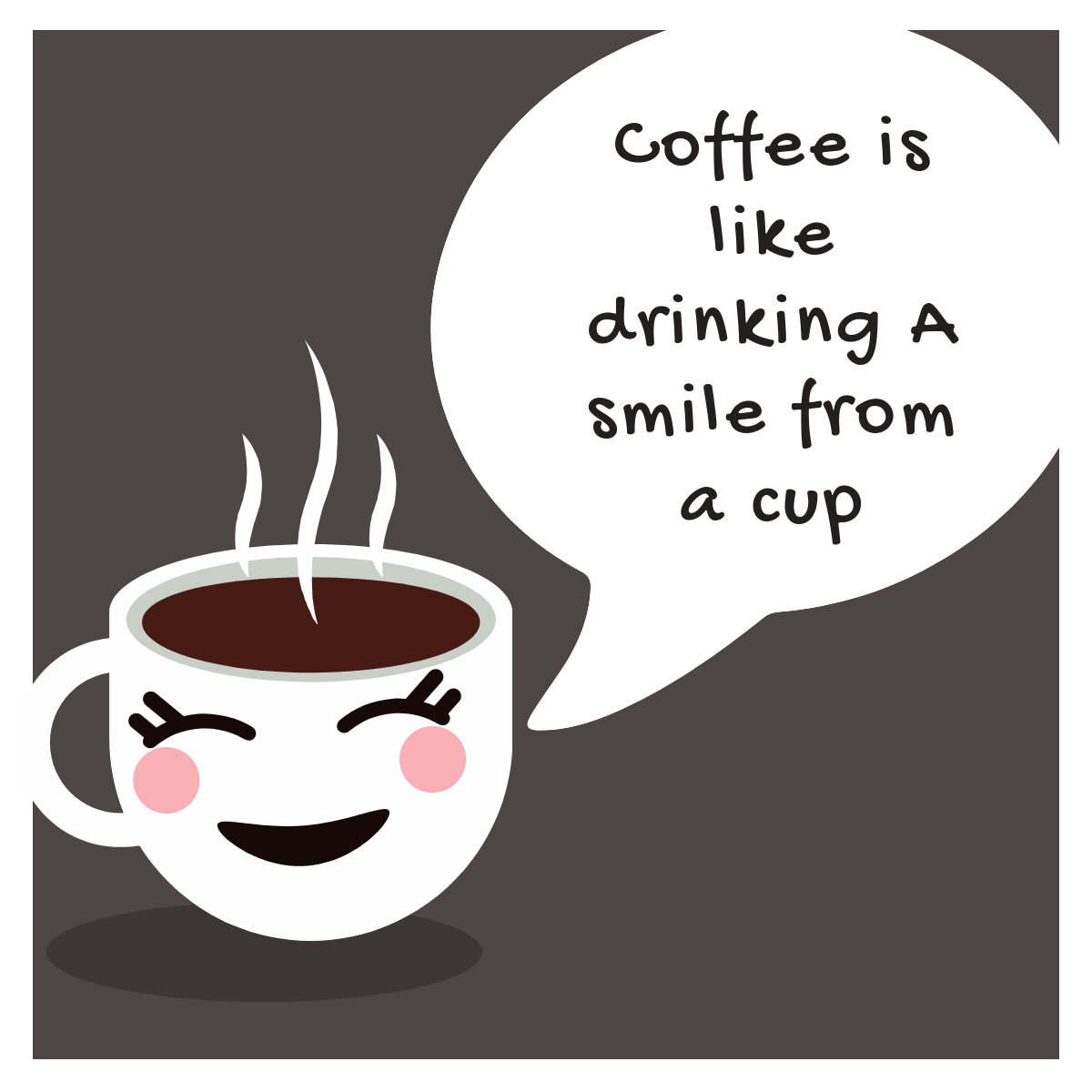 Drinking a Smile Coffee Mug - Slate