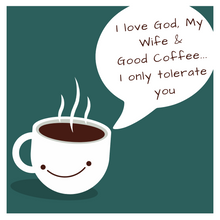 Load image into Gallery viewer, God Wife and Coffee Sarcastic Mug - blue