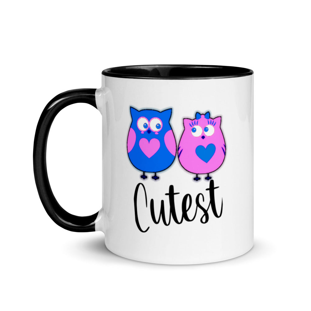 Cutest - Mix and Match Mugs for couples with Colorful inner chamber
