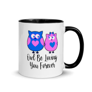 Owl Be Loving You Forever Coffee Mug Cup Gift For Couples Valentine Love Wife Husband