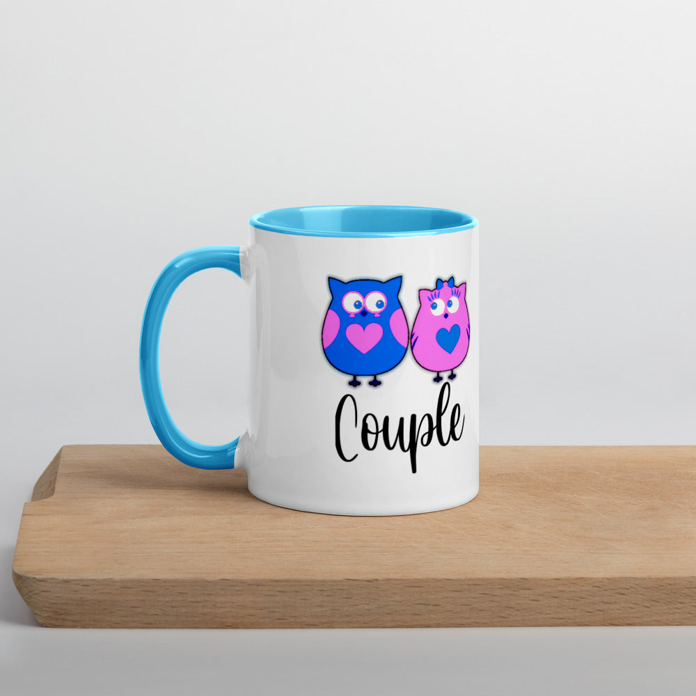 Colorful Printed Mix and Match Valentine Couple Coffee Mug Love Owl - Couple