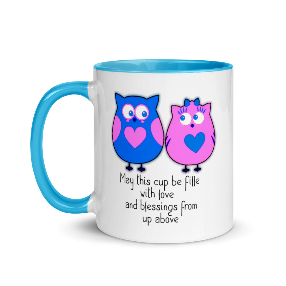 Cute Coffee Mug with Color Inside and Poetry