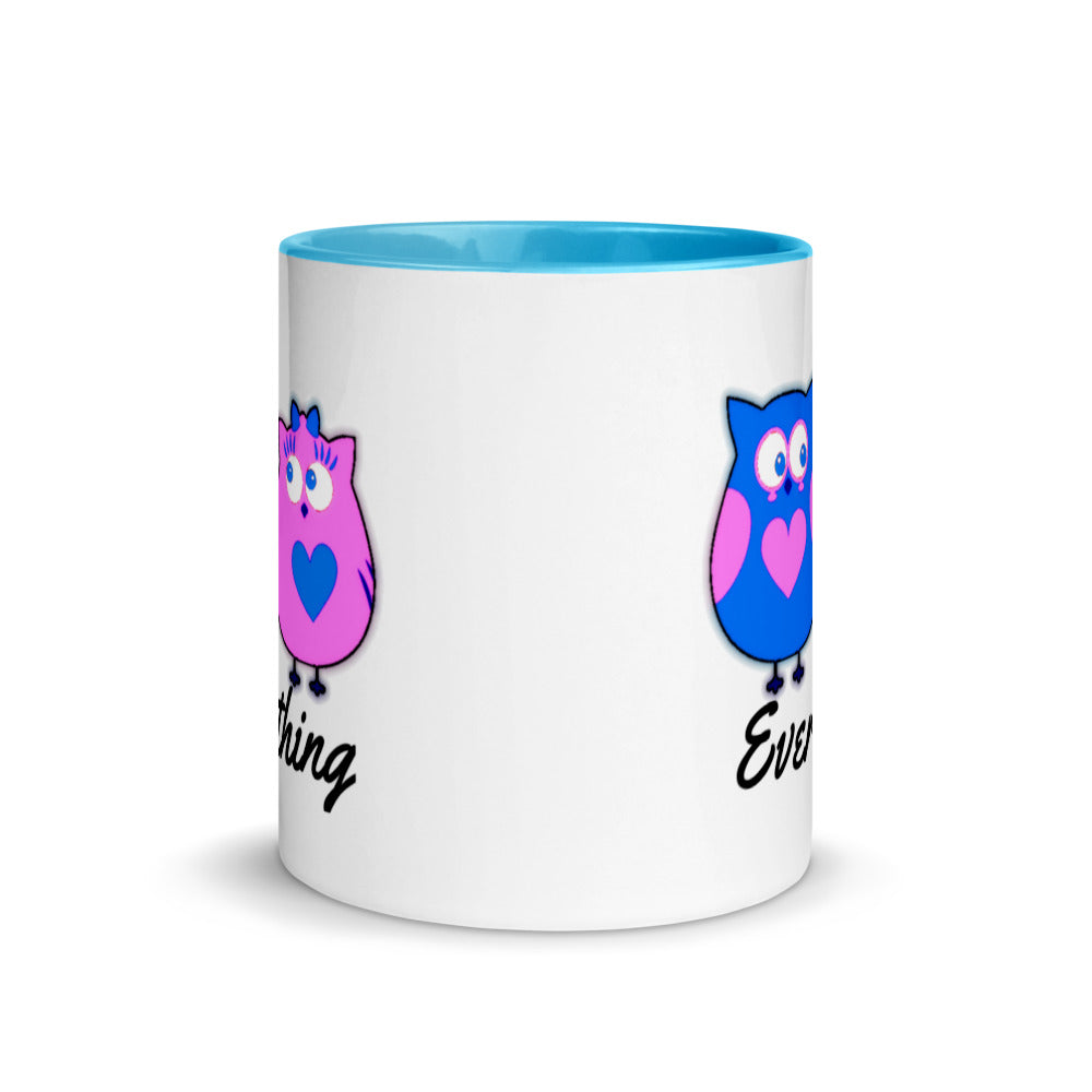 Everything Mix and Match Owl Mug with Color Inside