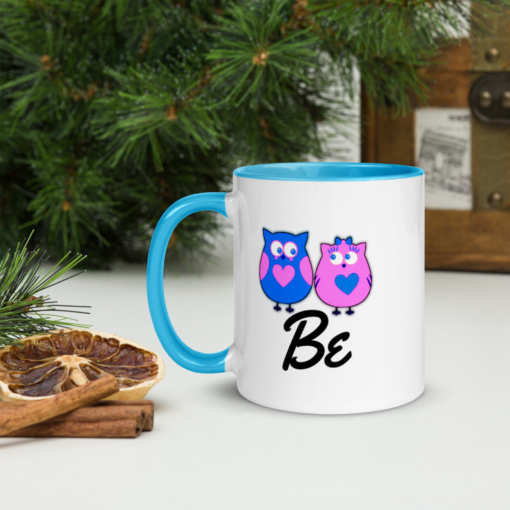 Mix and Match Make Your Own Phrase Couple Mug with Color Inside - Be