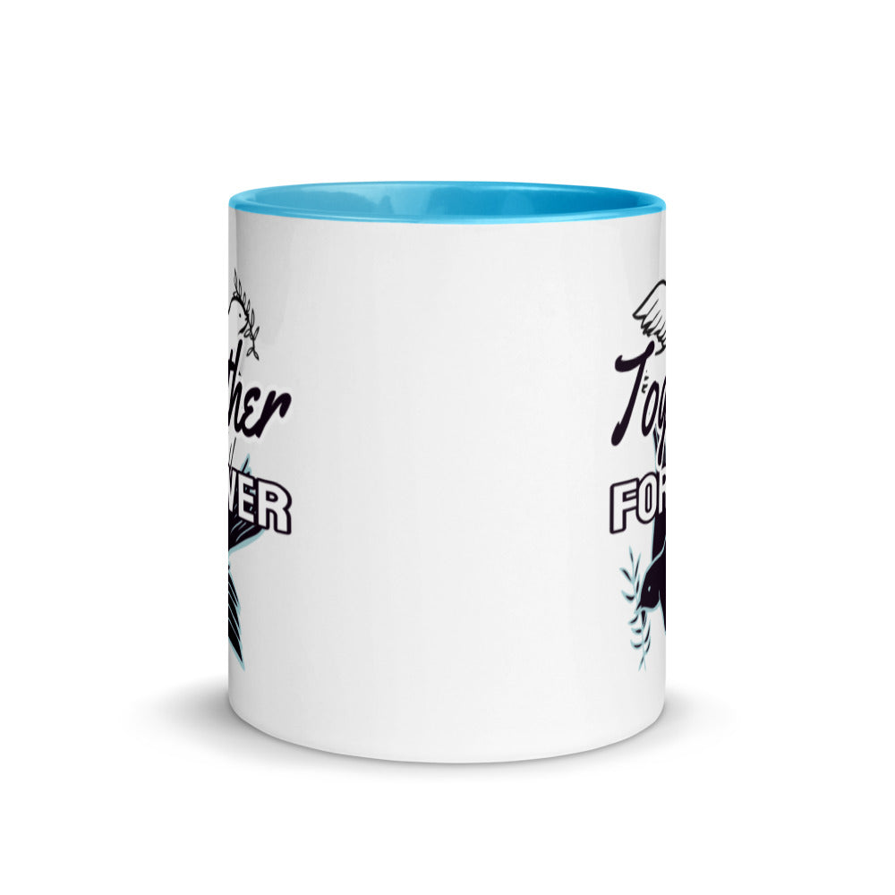 Together Forever Love Dove Mug with Color Inside