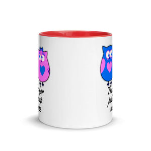 Thanks for Putting Up With Me Fun Valentine Love Couple Wife Gift Mug with Color Inside