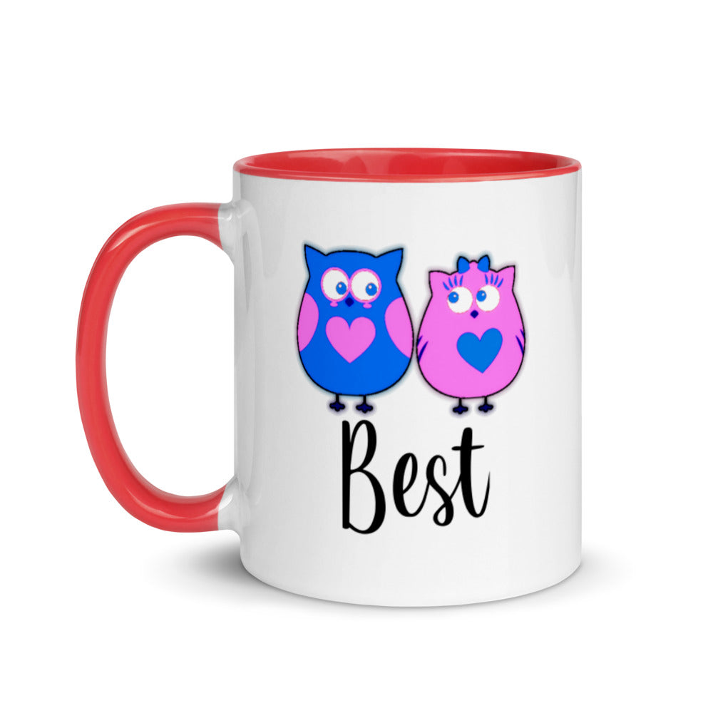 Best Mix and Match Create Your Own Set Owl Word Mug with Color Inside