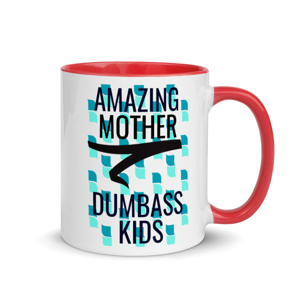 Amazing Gift For Mom Sarcastic Coffee Cup Dumbass Kids Mug with Color Inside