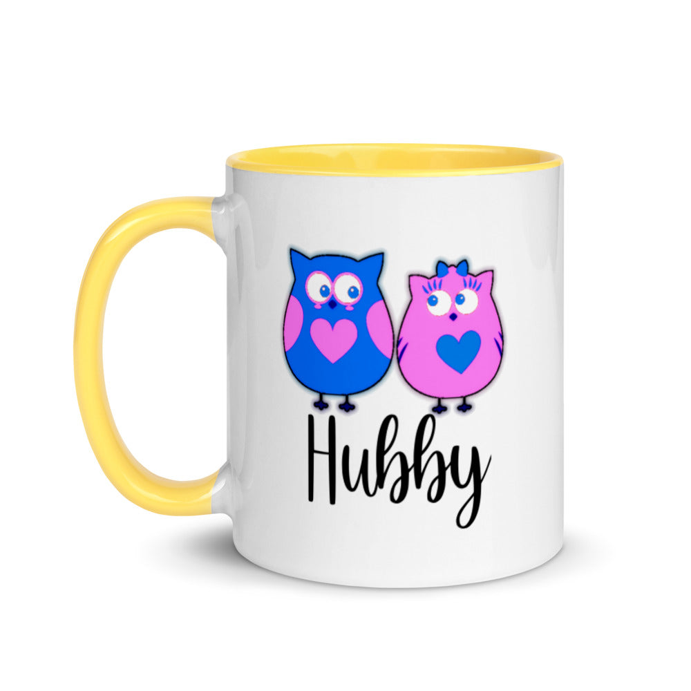 Hubby Mix and Match Owl Love Valentine Mug with Color Inside