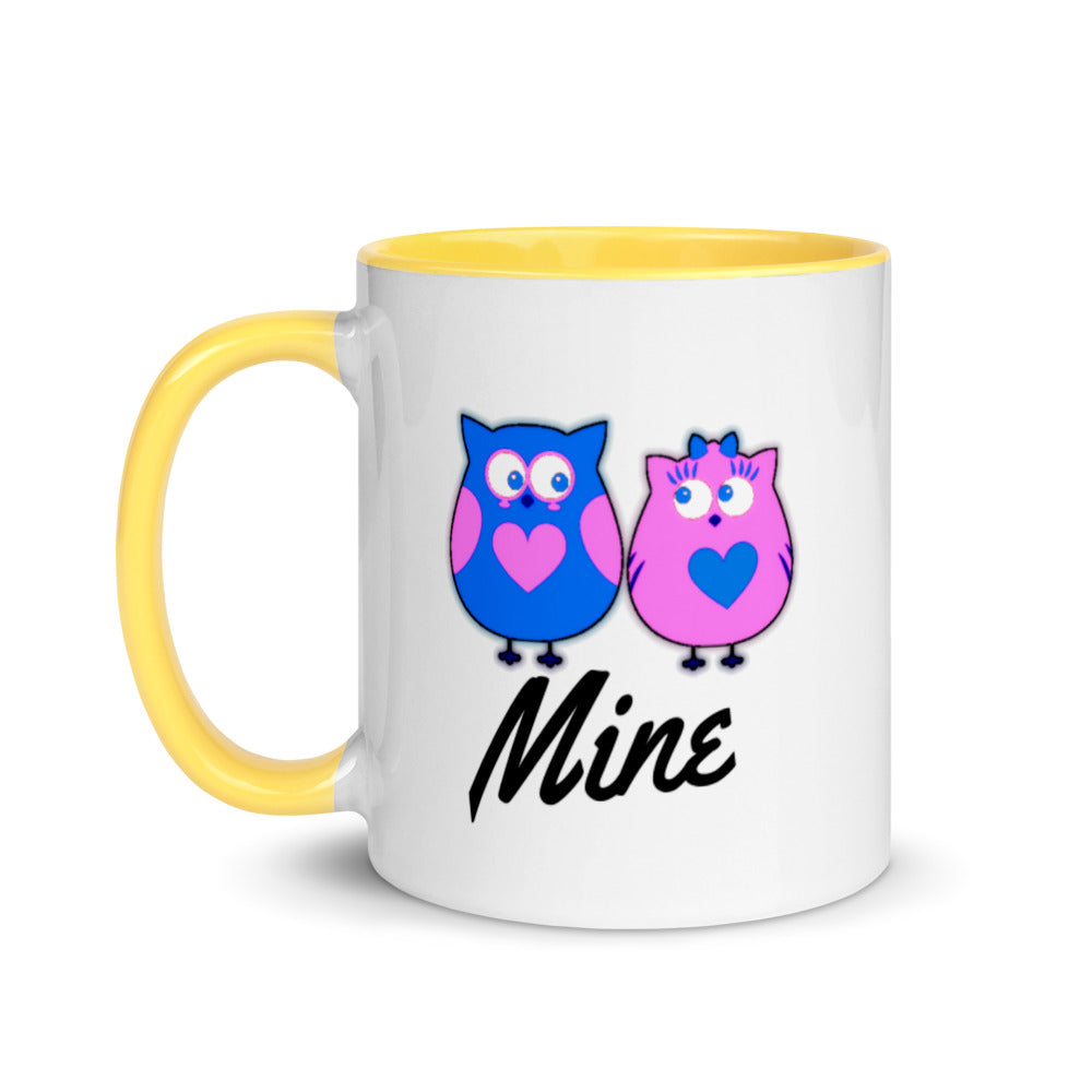 Mine - Mix and Match Couple Word Mug with Color Inside