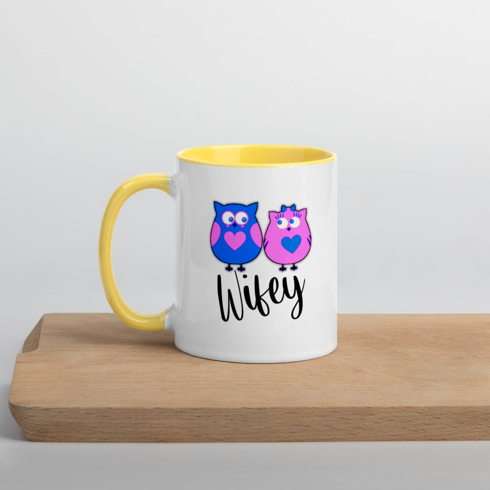 Mug Wifey Owwl Couple Mix and Match Coffee Cups 11 0z Ceramic