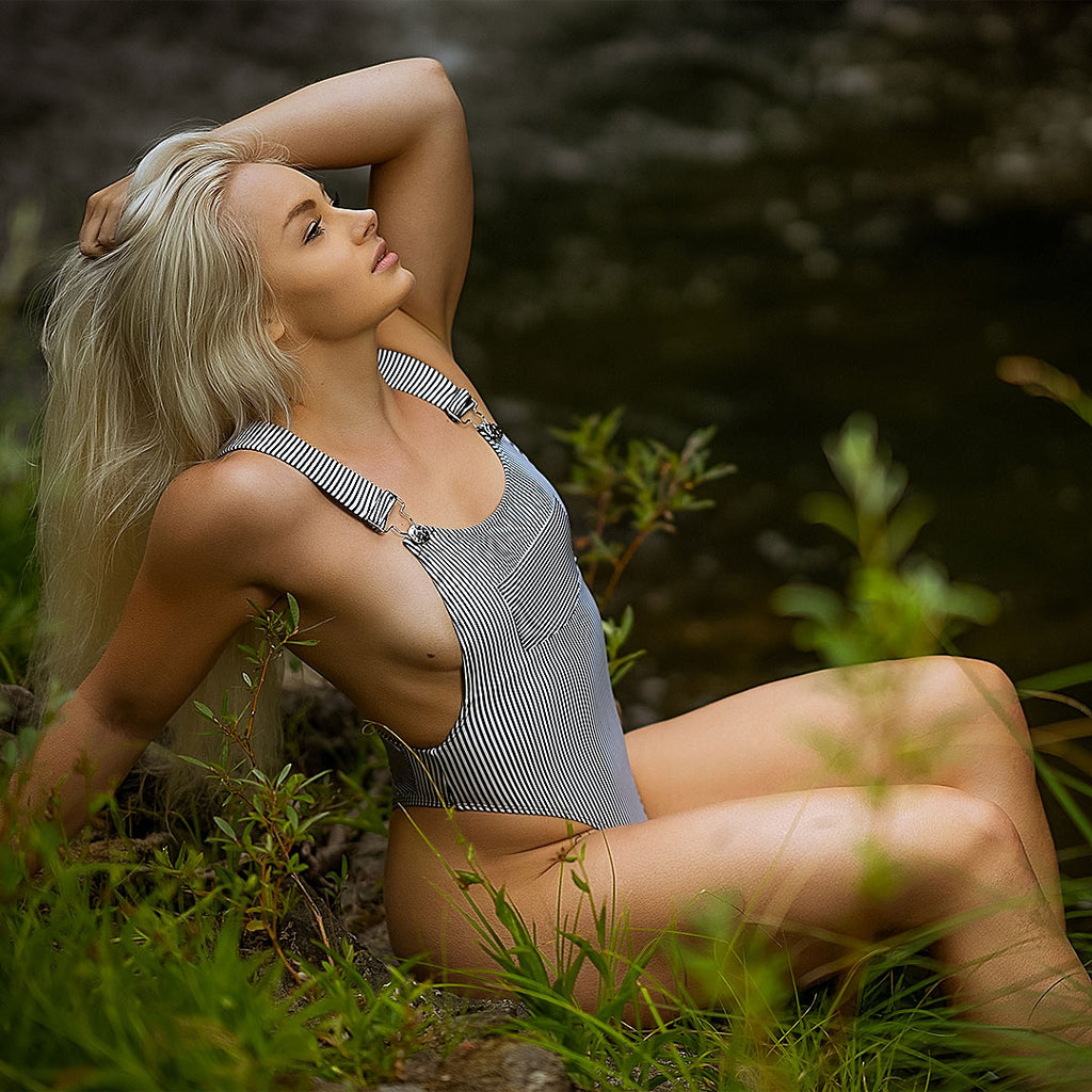 Railroad Overall swimsuit