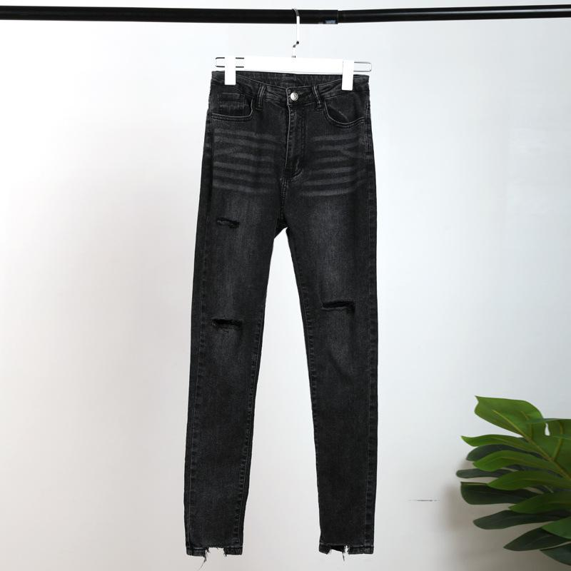 Ankle Cut Skinny Black Jeans - Popstry