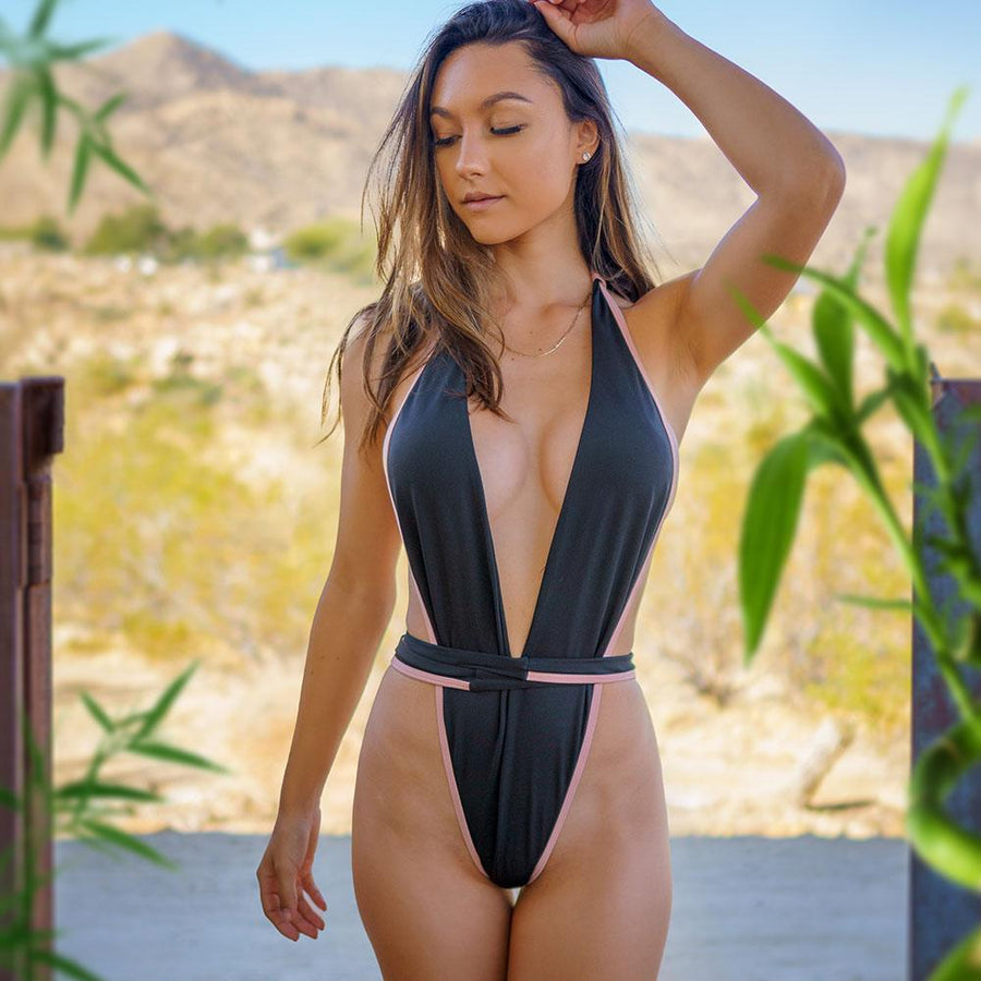 Beach Thoughts One Piece Swimsuit - Popstry