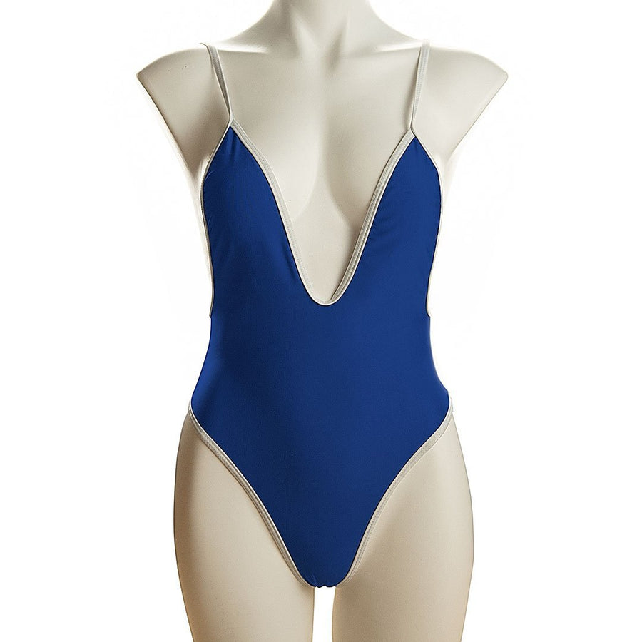 Contrast Trim One-Piece Swimsuit - Popstry