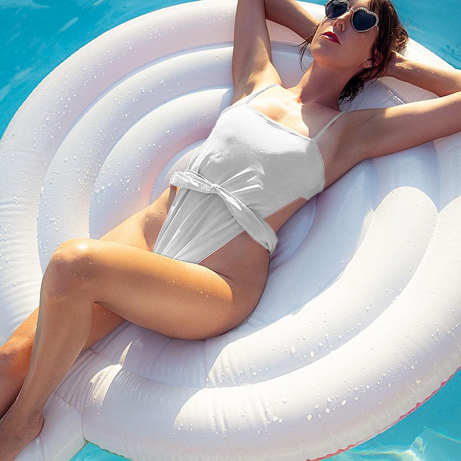Flight To Santorini One Piece Swimsuit - Popstry