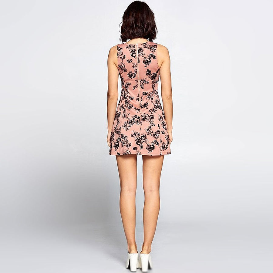 Floral Tank Flare Dress - Popstry