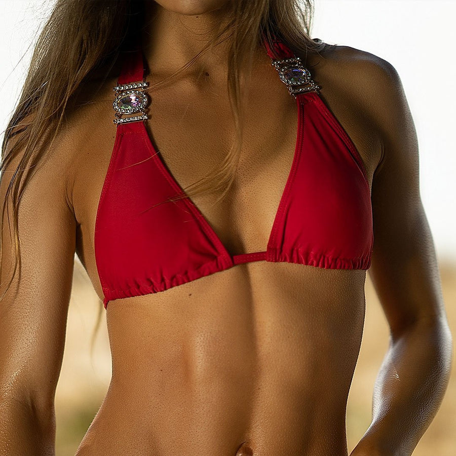Jeweled Red Bikini - Popstry