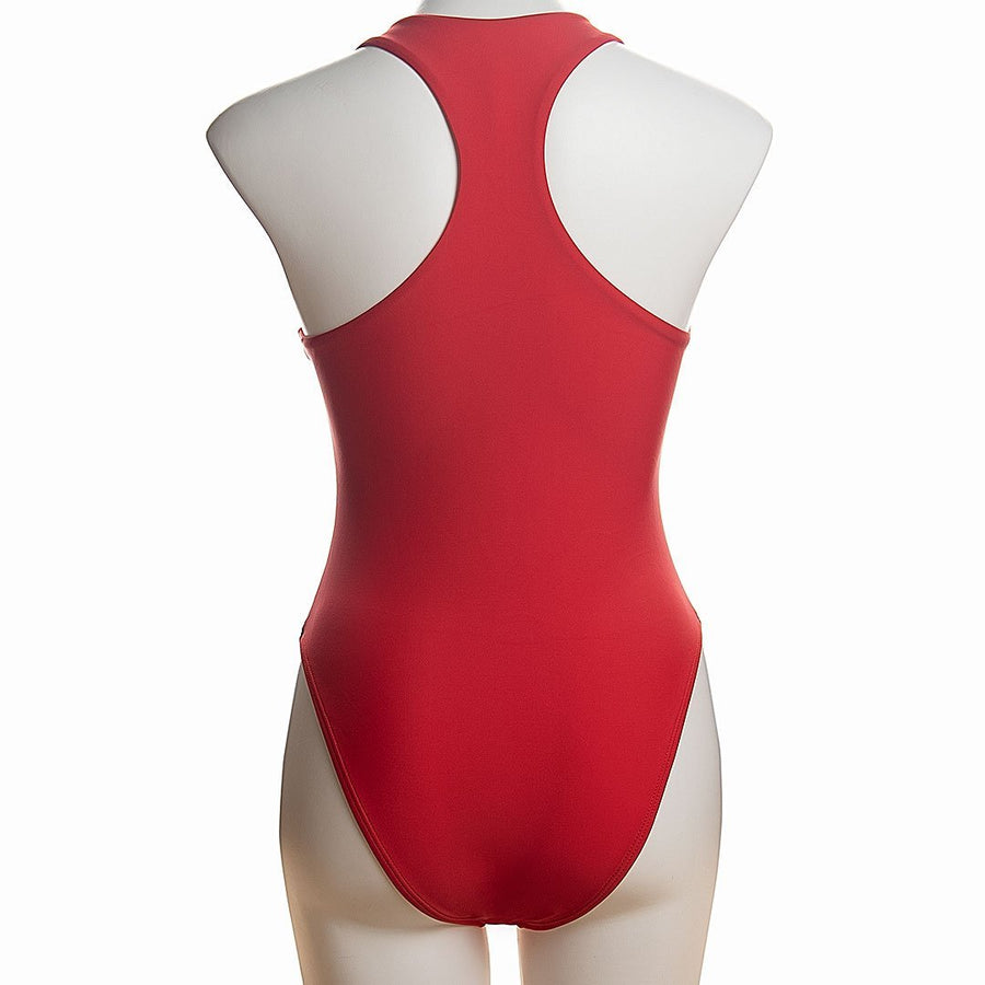 Mesh Panel Zip One-piece Swimsuit - Popstry