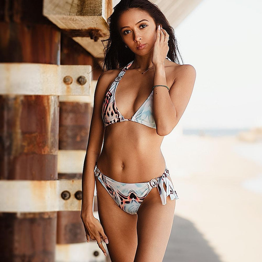 On The Wild Side Halter Bikini Set - Popstry