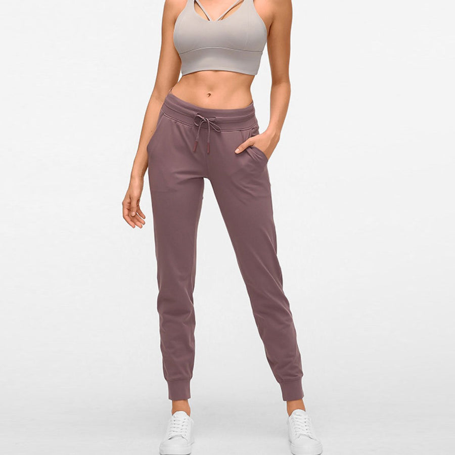 Slimming High Waist Joggers - Popstry
