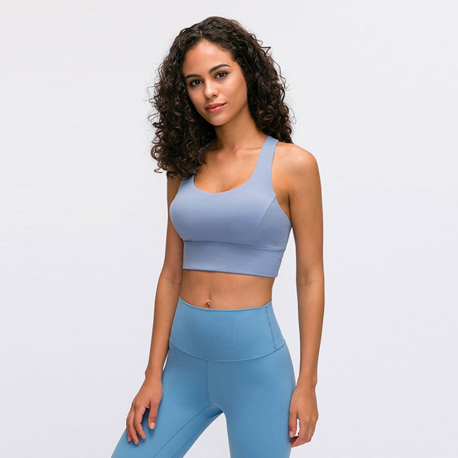 Strappy Thick Band Sports Bra - Popstry